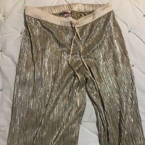 Victoria's Secret Gold Pajama Pants
